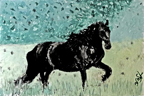 My Kingdom for this Horse - Impressionist